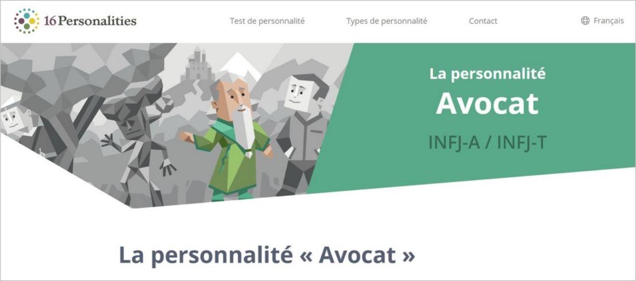 Le test des 16 personnalités - Profil INFJ