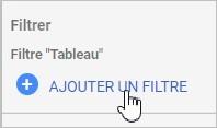 Ajouter un filtre sur Data Studio