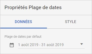 Options de plage de dates