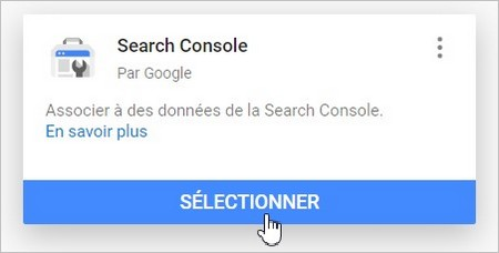 Ajouter Search Console à Data Studio