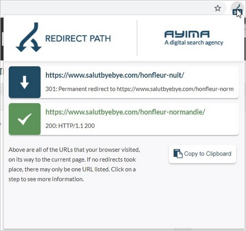 L'extension Chrome RedirectPath