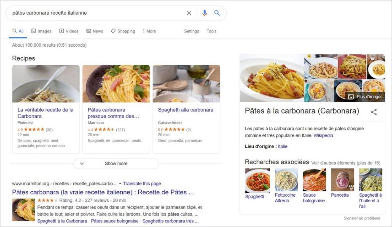 Des résultats enrichis sur Google