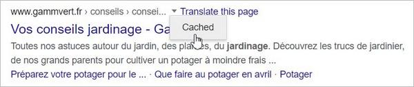 Mise en cache par Google