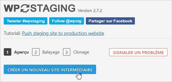 Créer un site de staging sur WordPress