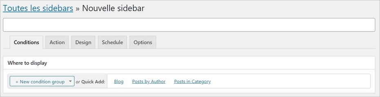 Créer une sidebar sur mesure - Content Aware Sidebars