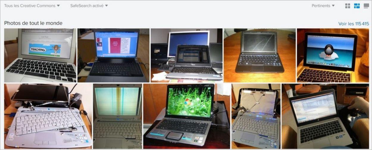 Le résultat d'une recherche d'ordinateurs