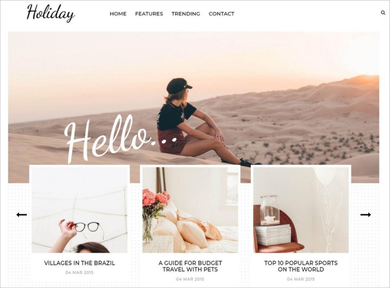 Le thème Blogger gratuit Holiday
