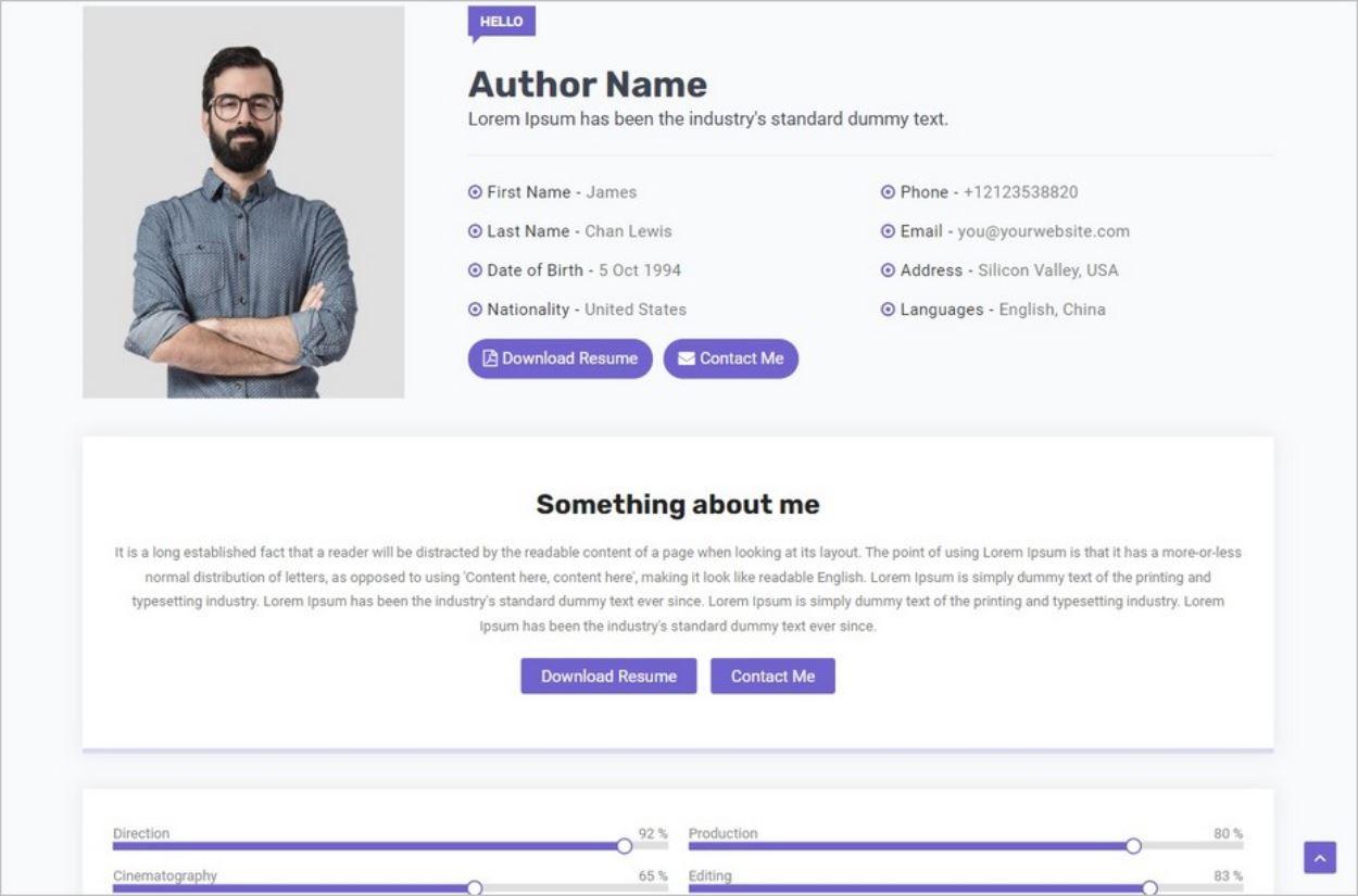 Le thème Blogger gratuit Director