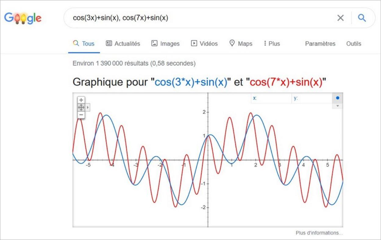 Opérations complexes sur Google