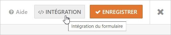 Intégration du formulaire sur WordPress