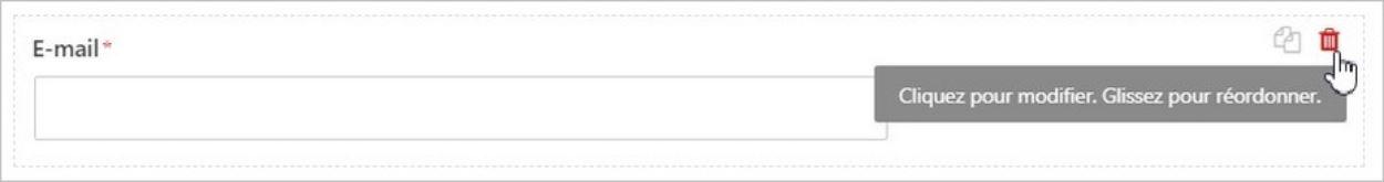 Supprimer un champ sur WPForms