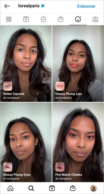 Exemple de filtre Instagram - L'Oréal