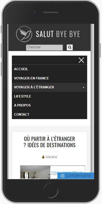 Design du menu mobile