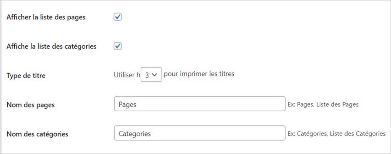 Créer un plan de site sur WordPress