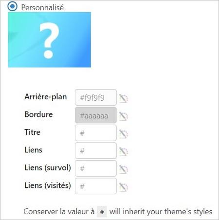 Design personnalisé du sommaire WordPress