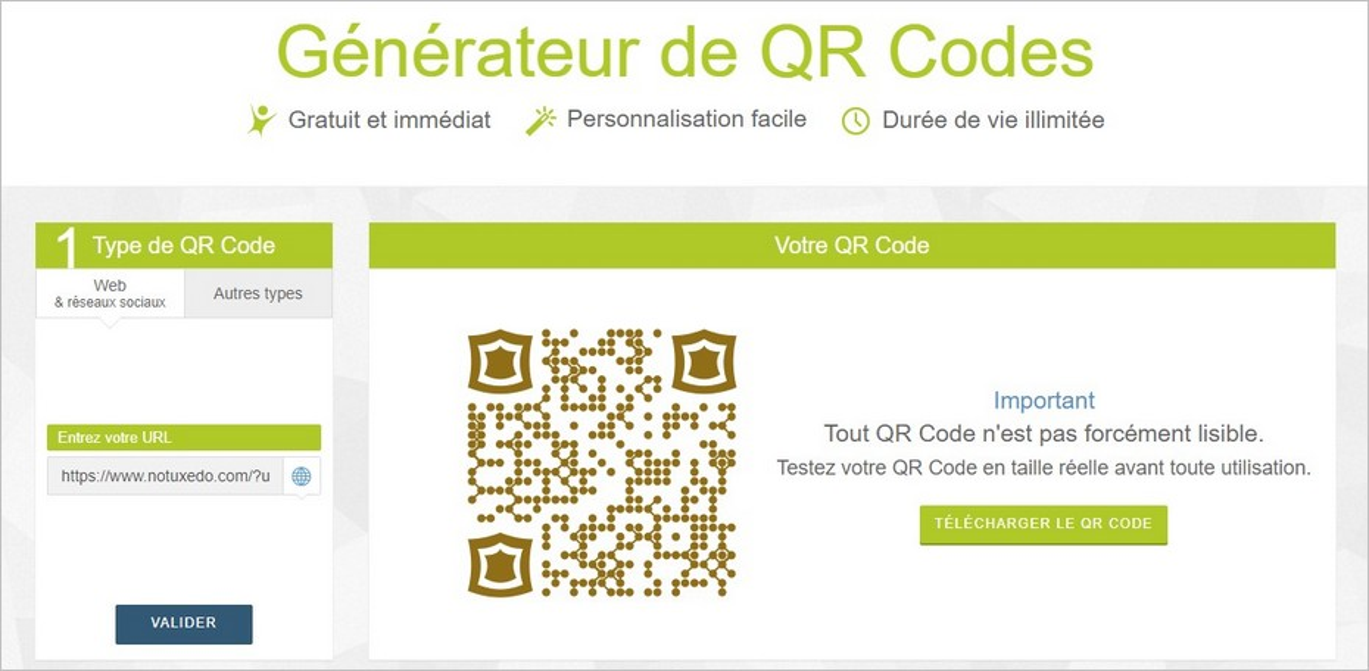 Personnaliser l'apparence du QR Code